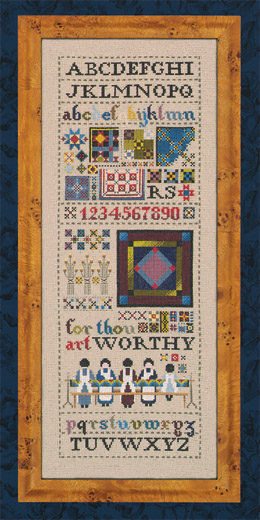[Photo of Amish Quilt Sampler......TG 46]